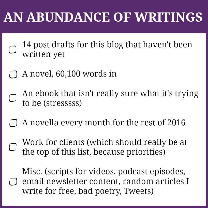 abundance of writings