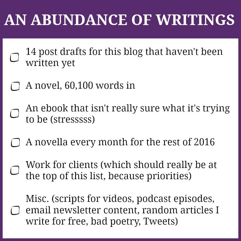 abundance of writings